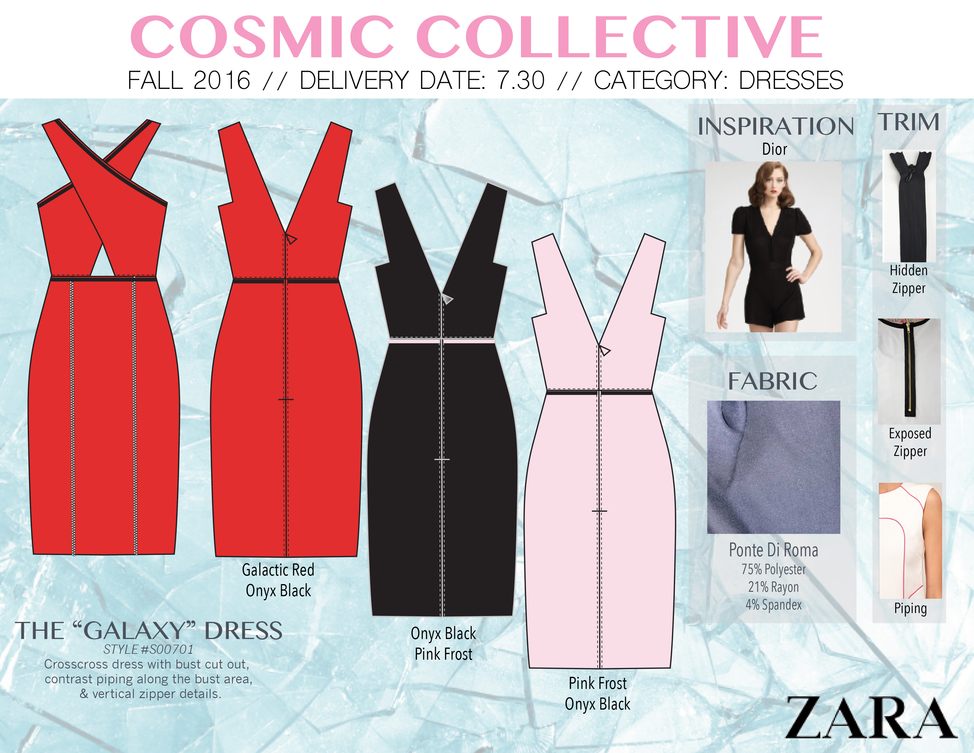 cosmic collective galaxy dress - jacqueline bridgford
