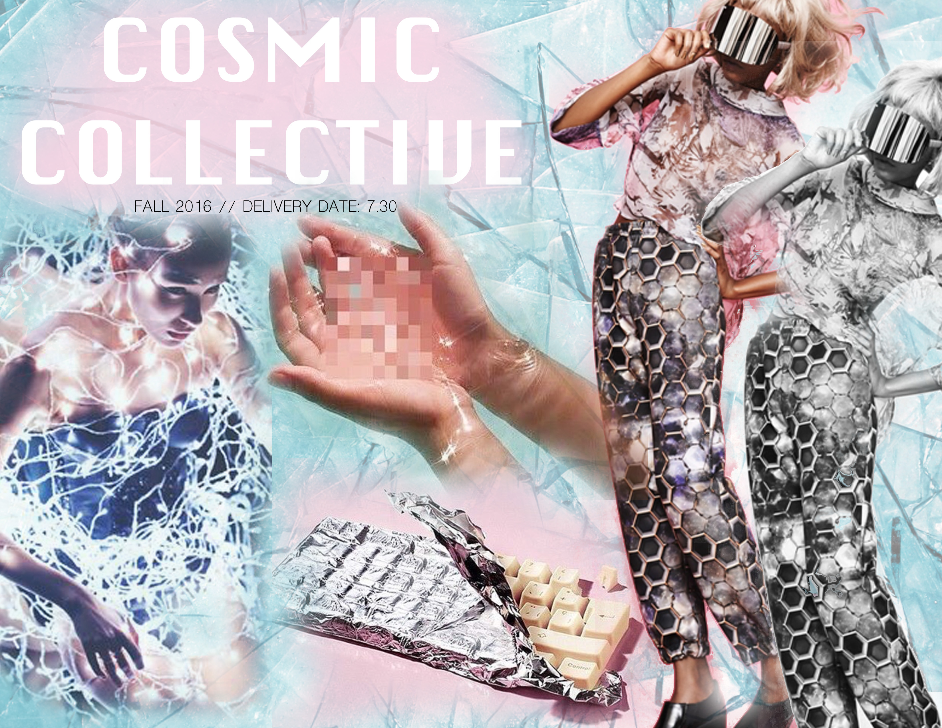 Cosmic Collective Theme Board for group presentation - Jacquelin