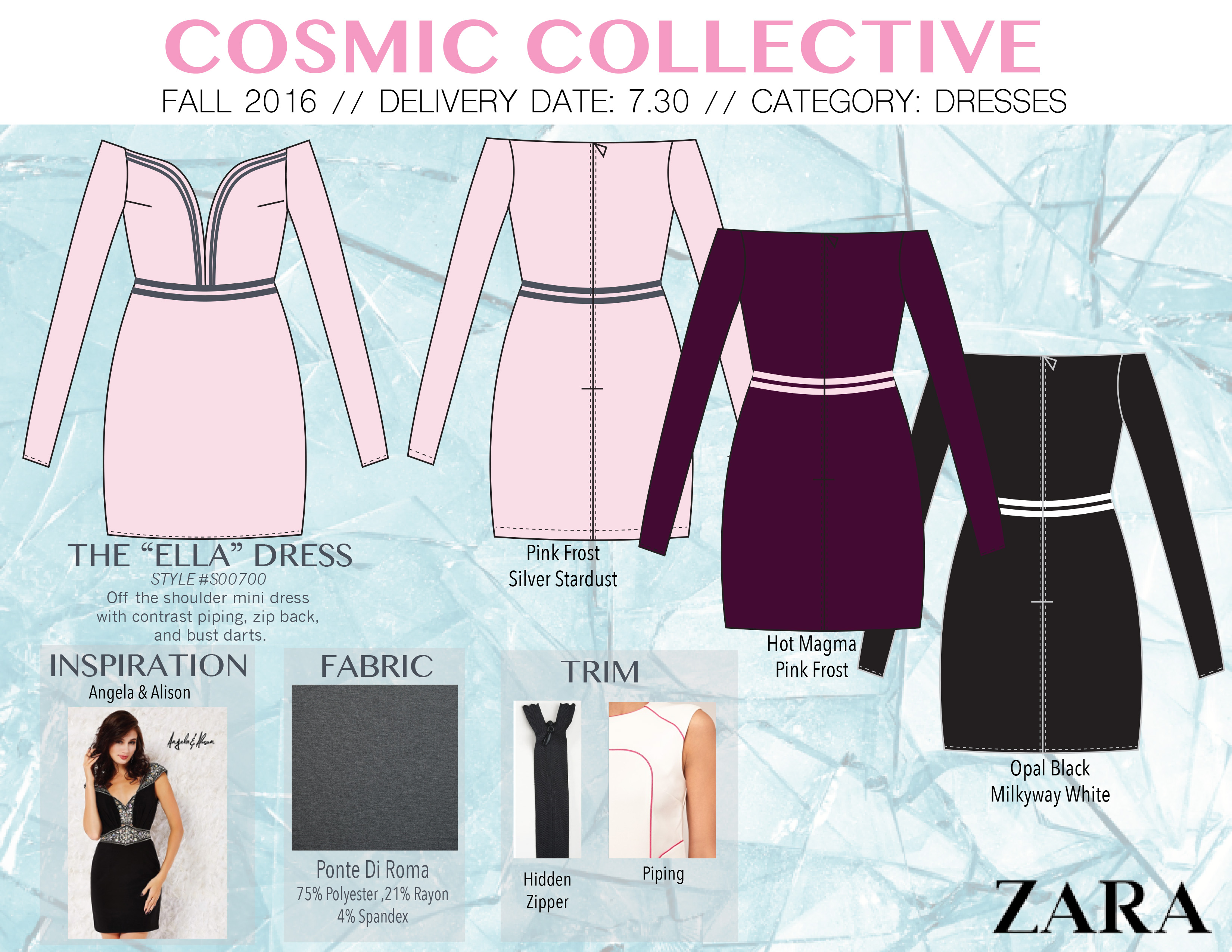 layout page for cosmic collective ELLA DRESS