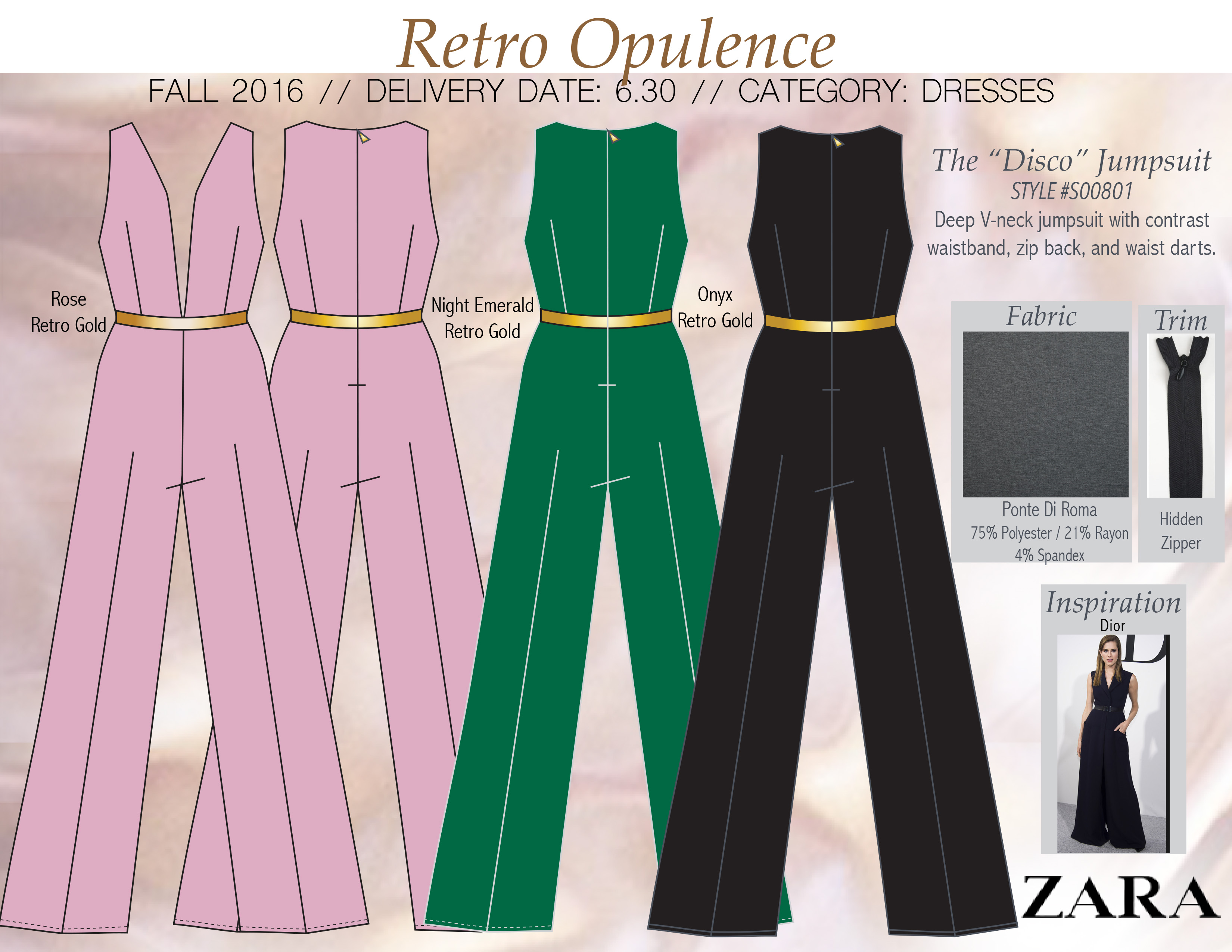 layout page for retro jumpsuit mine