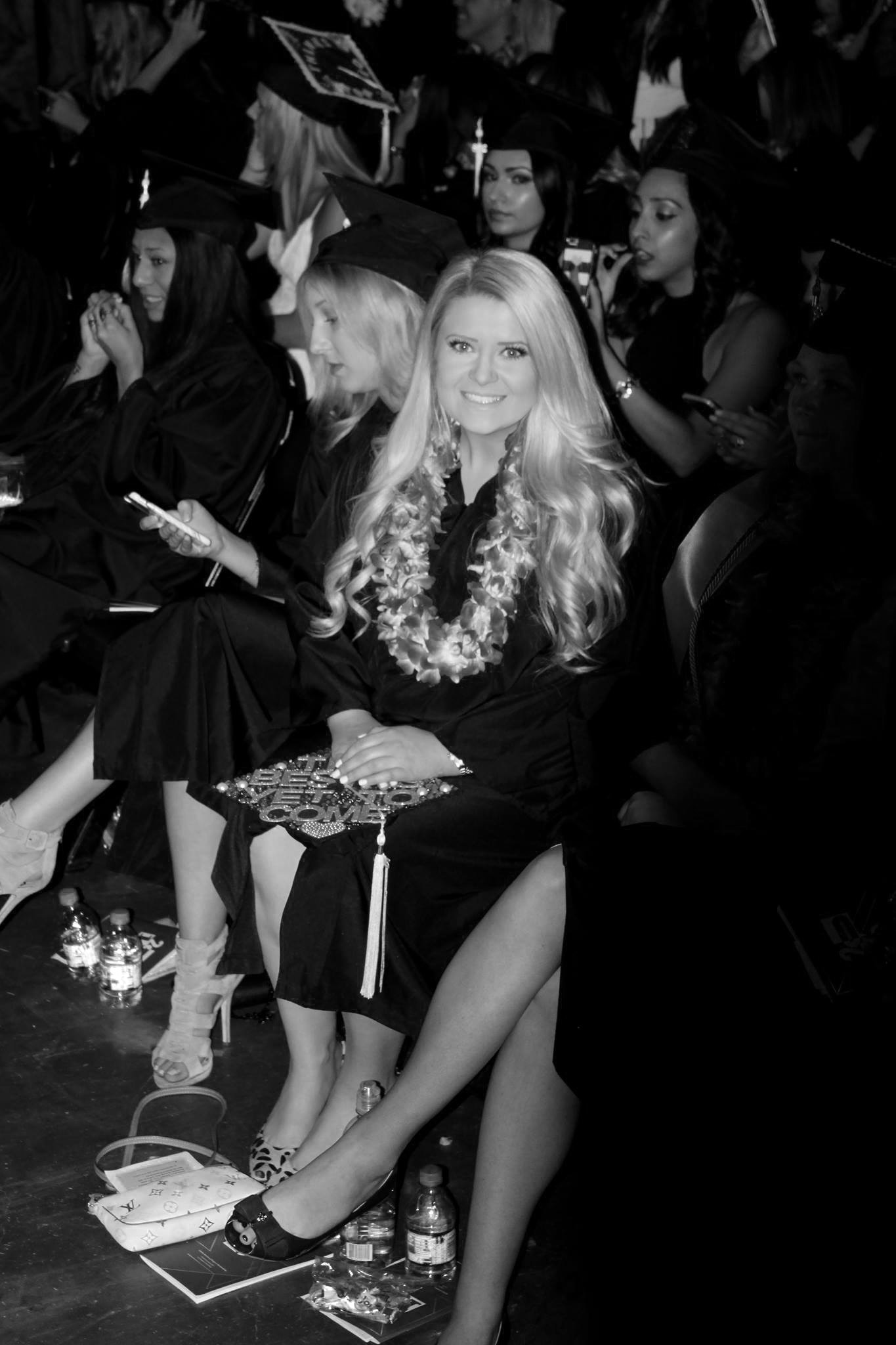 black and white fidm graduation jacqueline bridgford pretti please